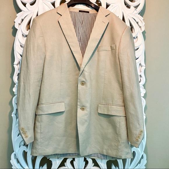 Calvin Klein Other - 100% Linen Calvin Klein Blazer Fully Lined Tan